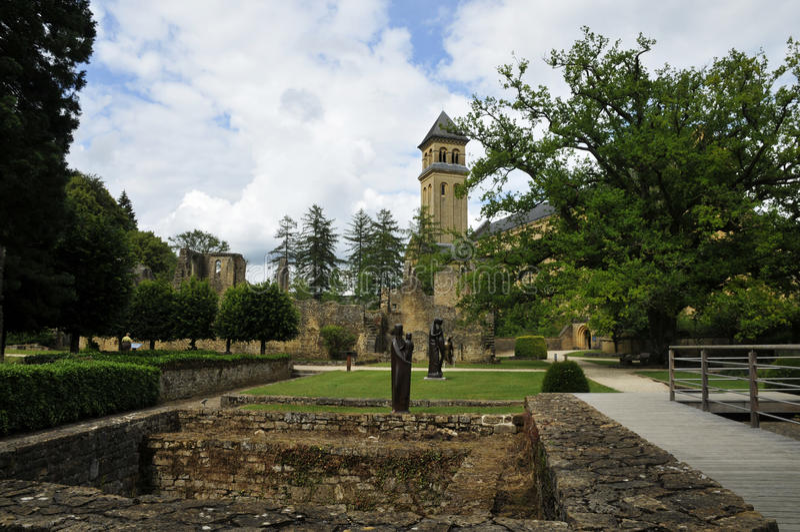 Orval opactwa kościół zdjęcie royalty free