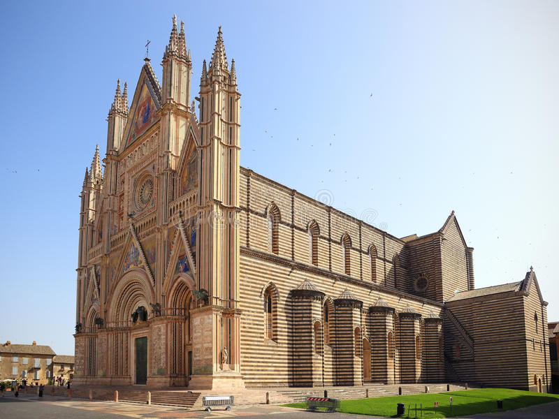 Orvieto大教堂,翁布里亚,意大利 免版税库存照片