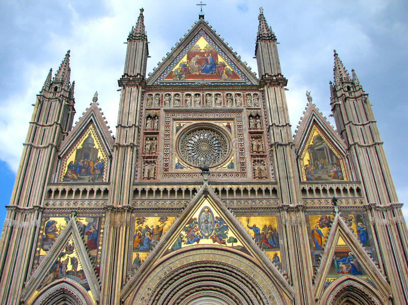 orvieto собора готское стоковое фото