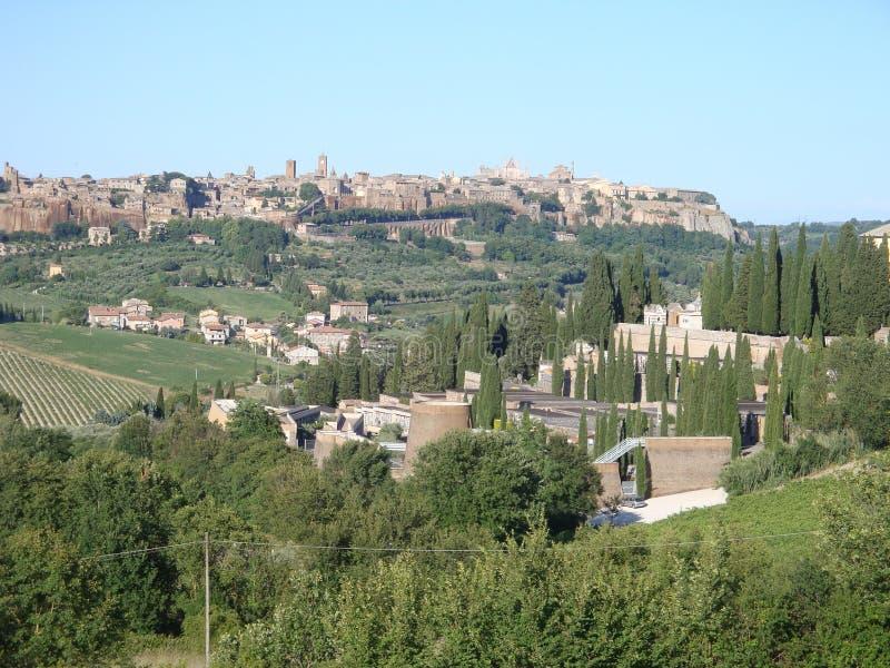 Orvieto-Abhangstadt in Italien stockfoto