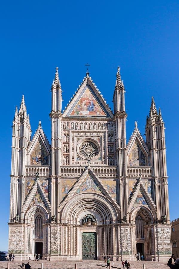 Orvieto domkyrka royaltyfri foto
