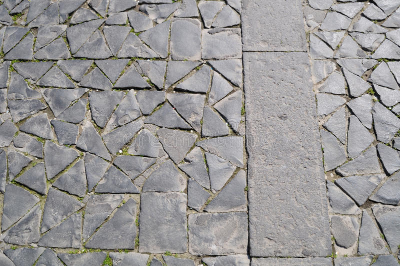 Orvieto, italy, paving stone. Paving stone of duomo square of orvieto, italy stock photography
