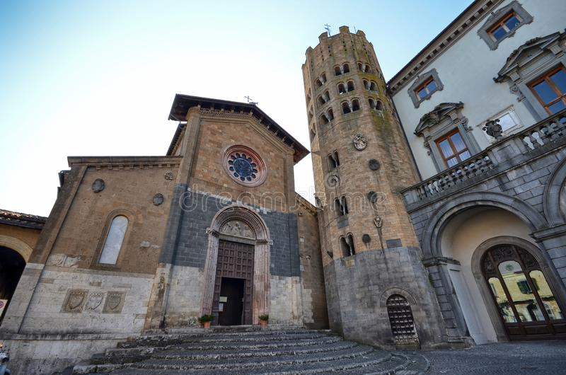 Orvieto, Umbría, el 30 de agosto de 2015 Della Repubblica de la plaza fotos de archivo libres de regalías