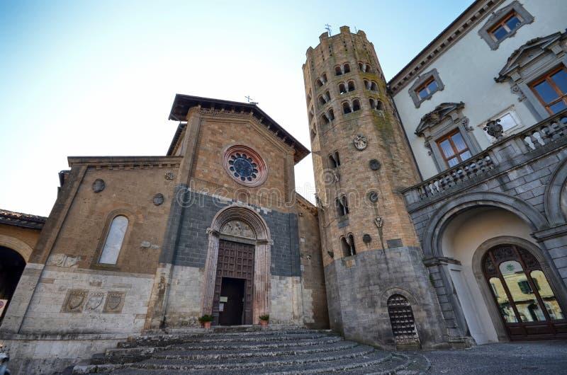 Orvieto, Umbrië, 30 Augustus 2015 Piazza della Repubblica royalty-vrije stock foto's