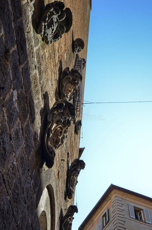 Orvieto Umbria, 30 Augusti 2015 Den historiska mitten arkivbild