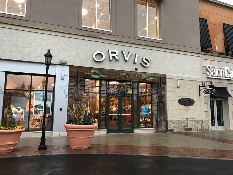 Orvis在遗产地方, Dedham, MA 免版税库存图片