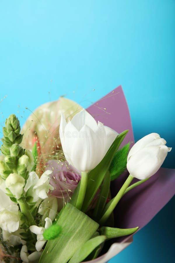 Oryginał kwitnie bukiet, jaskrawa piękno dekoracja fotografia stock