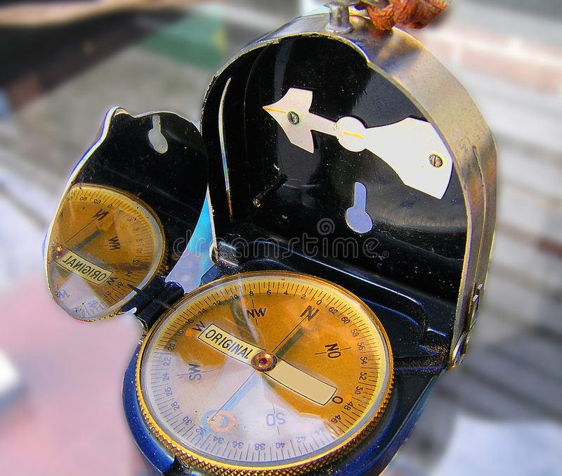Oryginał Kompas Zdjęcia Stock