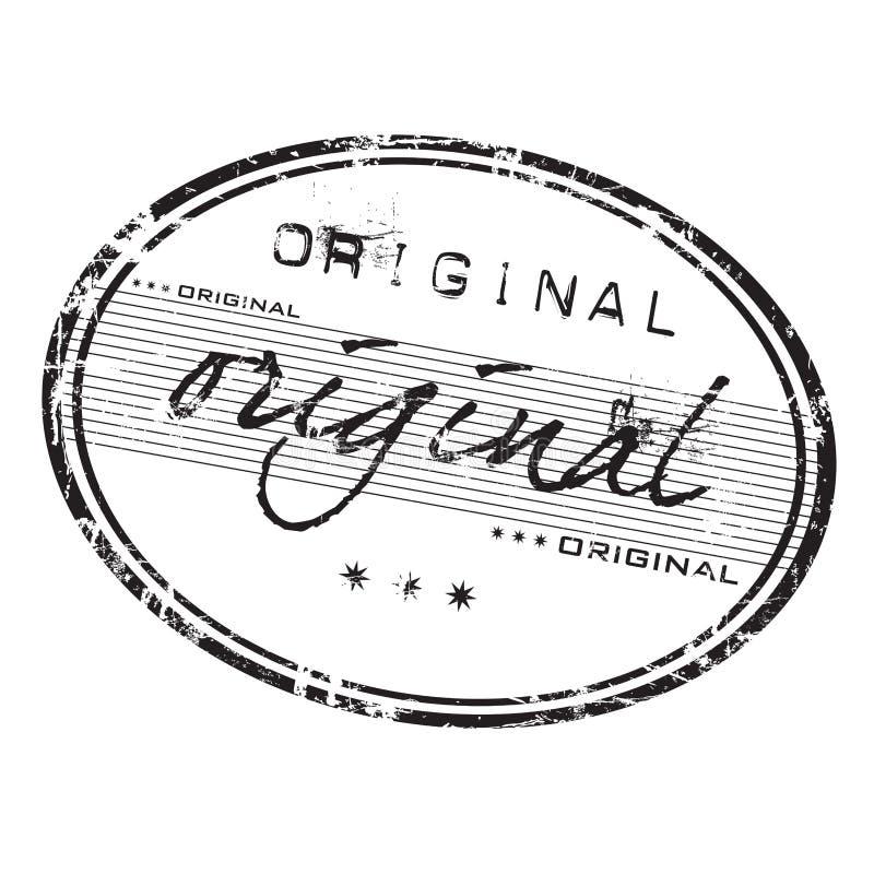 Download Oryginału znaczek ilustracja wektor. Obraz złożonej z odcisk - 7728966