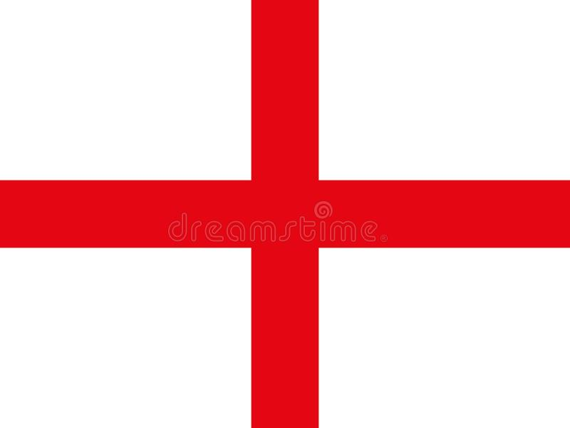 Oryginalna i prosta republika Anglia flaga ilustracja wektor