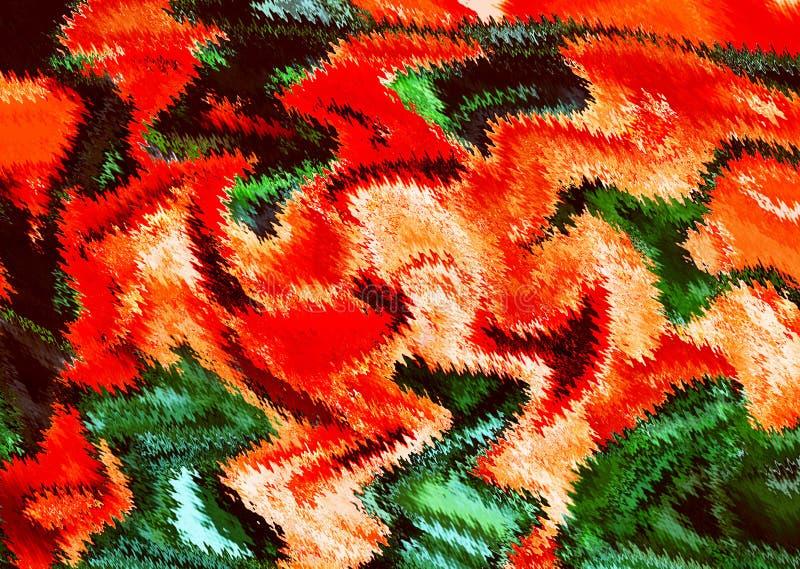 Oryginalna stubarwna abstrakcja w czerwieni obrazy stock