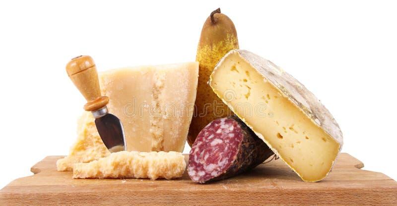 Oryginalne włoskie karmowe specjalność w białym tle zdjęcie stock