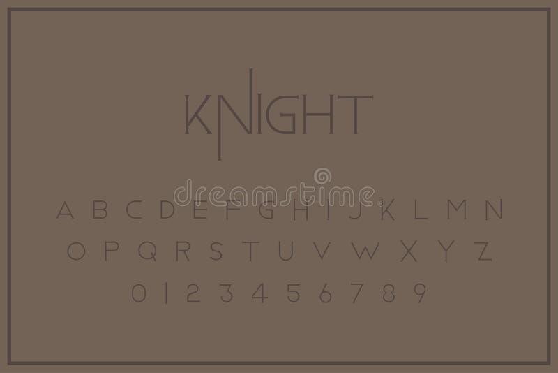 Oryginalnego rocznika królewska chrzcielnica Set listy i liczby w retro stylu Symbole dla kreatywnie projekta szablonu mieszkanie ilustracja wektor