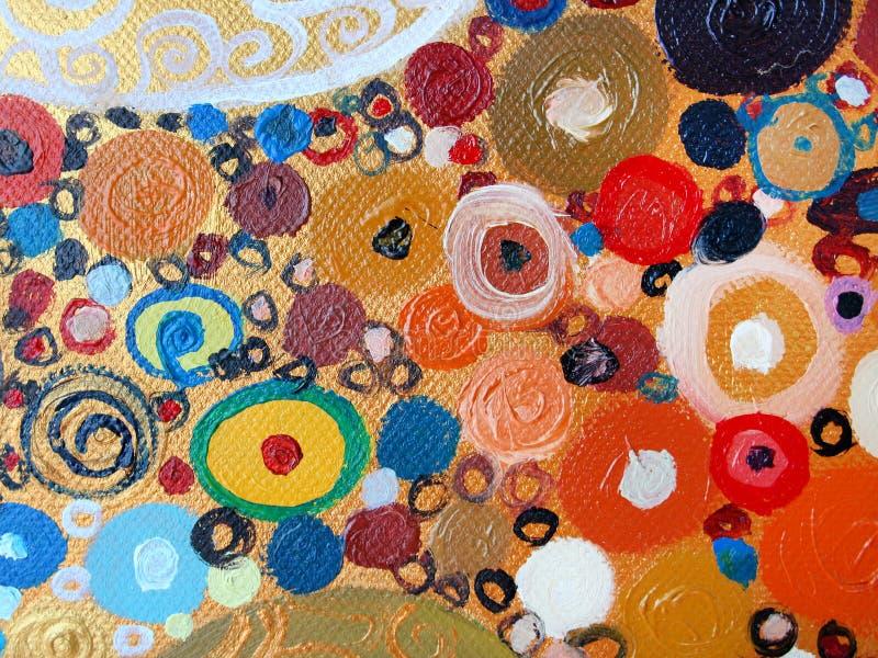 Oryginalny Abstrakcjonistyczny obraz, olej na kanwie zdjęcie royalty free