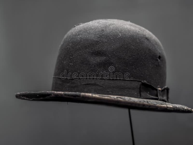 Oryginalny Charlie Chaplin drałowania dęciaka kapelusz obrazy stock