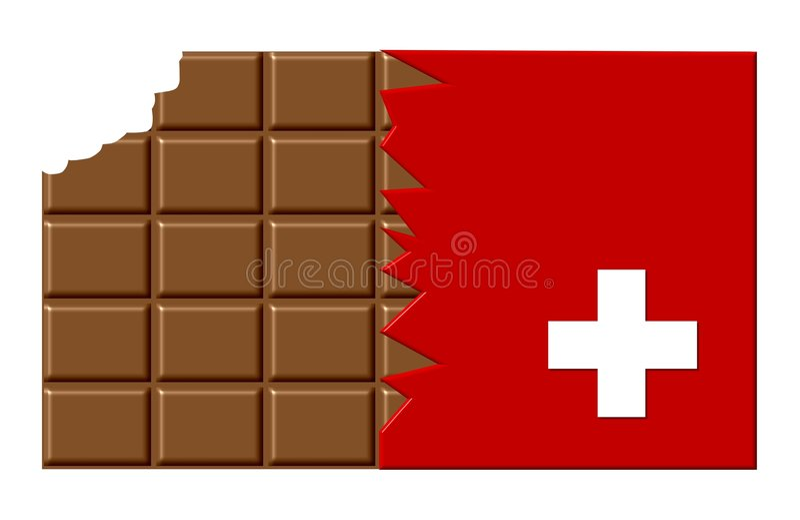 oryginalny czekoladowy szwajcarzy ilustracji