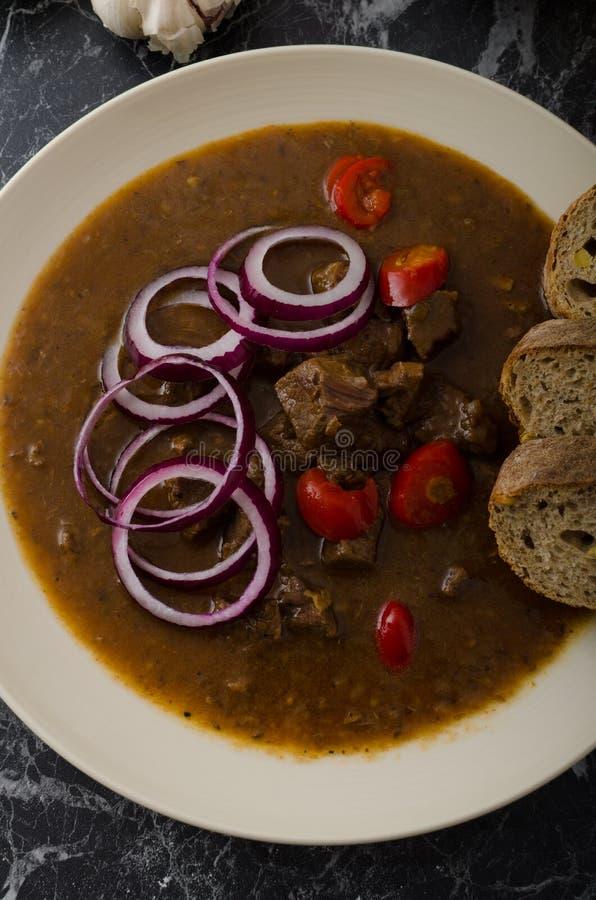Oryginalny Czeski wołowiny goulash fotografia royalty free