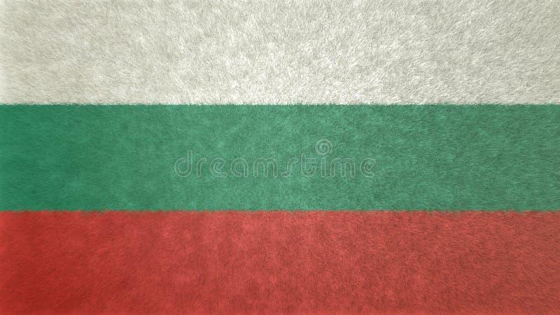 Oryginalny 3D wizerunek flaga Bułgaria ilustracja wektor