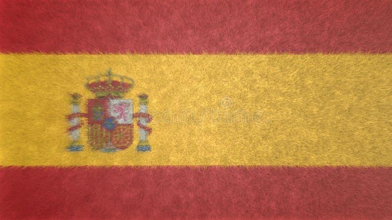 Oryginalny 3D wizerunek flaga Hiszpania ilustracji