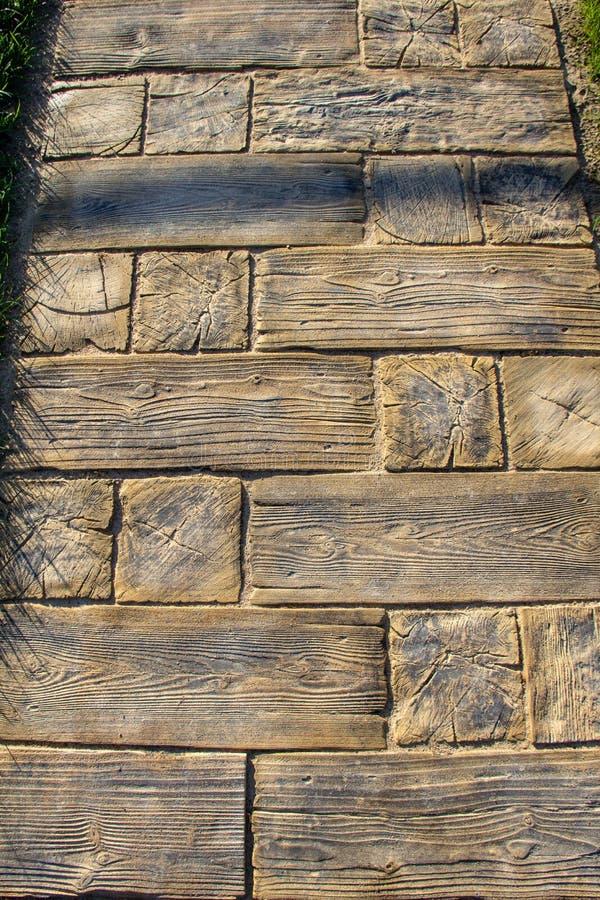 Oryginalny drewniany zwyczajny przejście zdjęcia stock