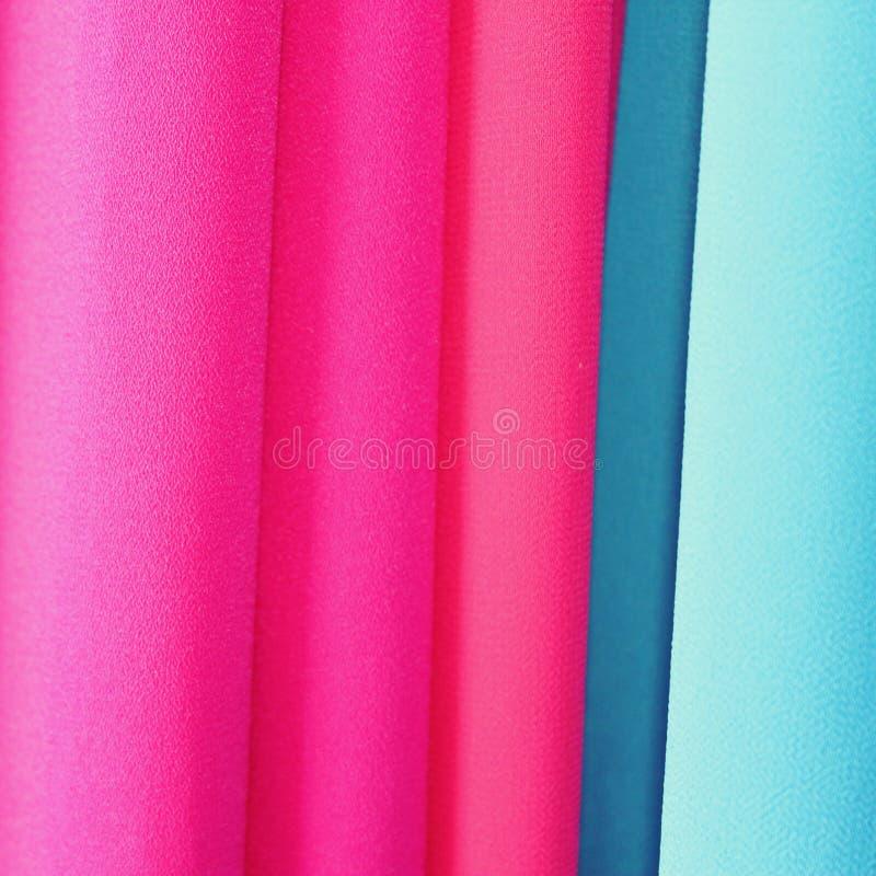 Oryginalny gradient tkanina Orientalny jedwabniczy tło r??owy niebieski obrazy stock