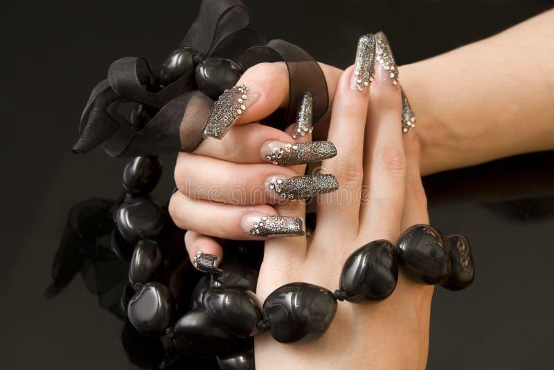 Oryginalny manicure zdjęcie royalty free
