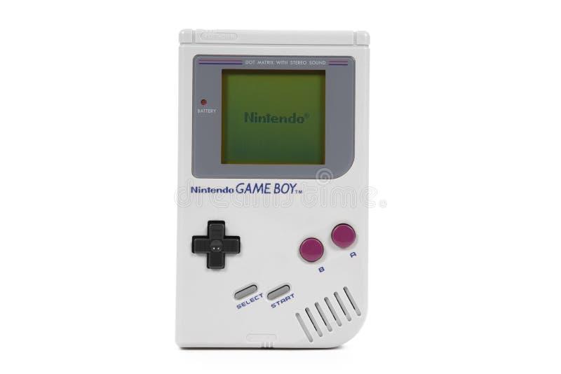 Oryginalny Nintendo Gameboy Handheld Gemowy system zdjęcia royalty free