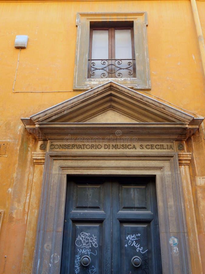 Oryginalny Rzym budynek, szczegół obrazy royalty free