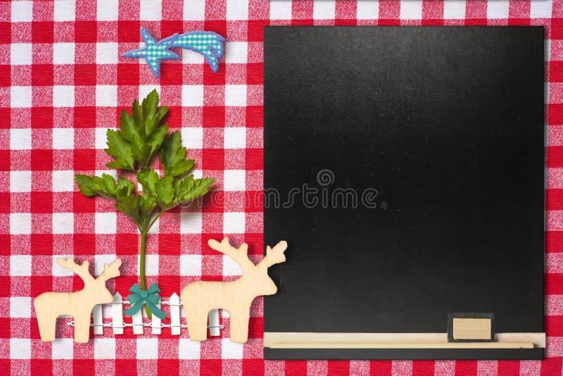 Oryginalny tło dla Bożenarodzeniowego menu obraz stock