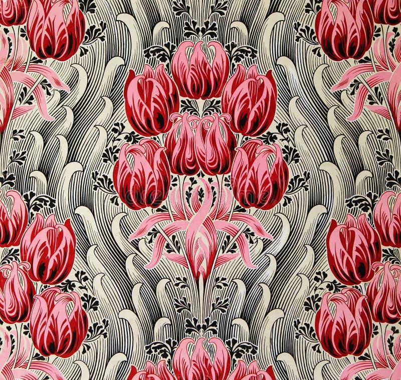 Oryginalny tekstylnej tkaniny ornament Nowożytny styl Kapcan jest ręcznie malowany z guaszem obrazy royalty free