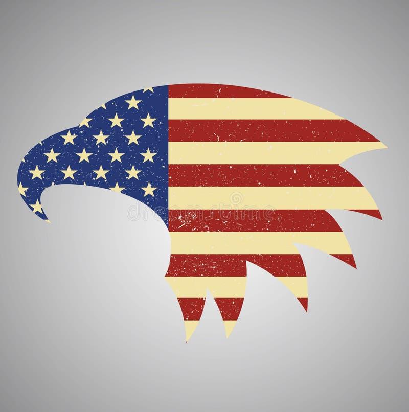 orzeł amerykańska flaga Flaga amerykańska orzeł kształtujący ilustracji