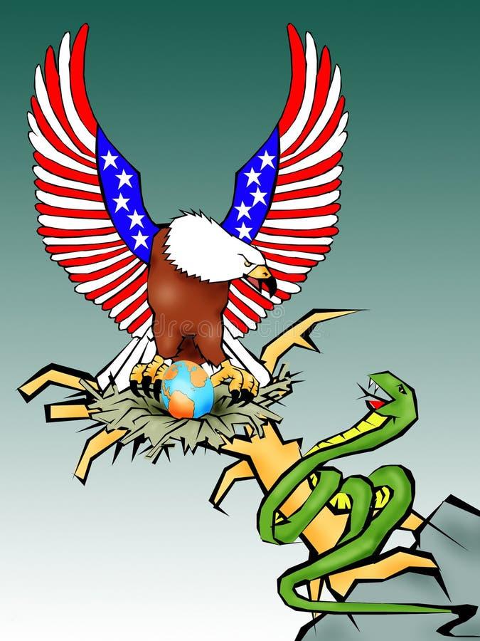 orzeł amerykański ilustracja wektor