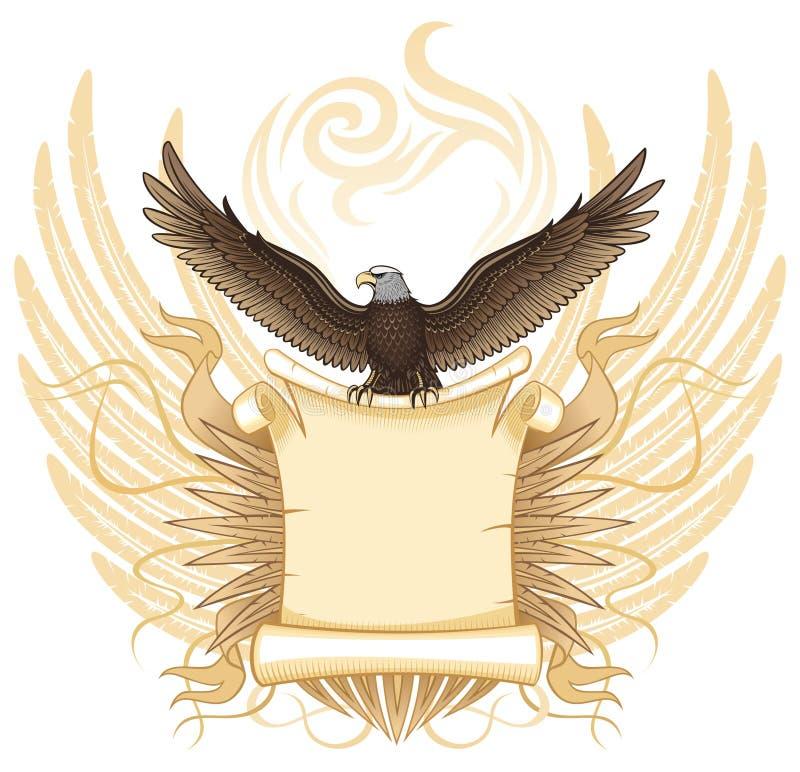 orzeł antyczna ślimacznica royalty ilustracja