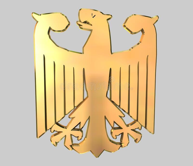 orzeł niemcy złota royalty ilustracja