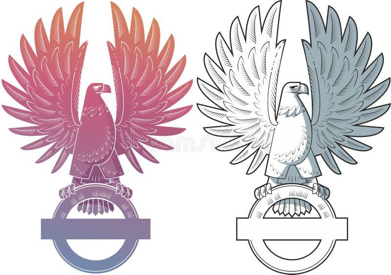Download Orzeł ilustracja wektor. Obraz złożonej z grafika, emblemat - 15430371
