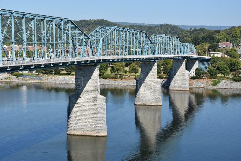 Orzech włoski ulicy most w Chattanooga, Tennessee zdjęcie stock