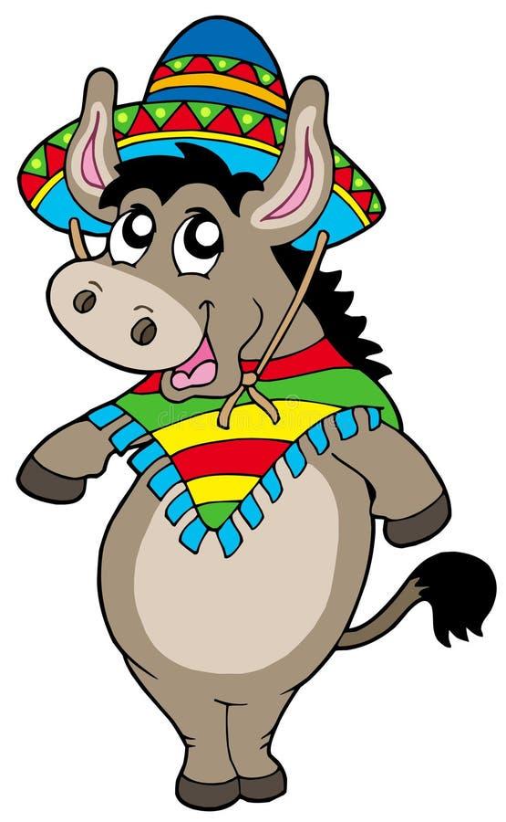 osła dancingowy meksykanin ilustracji