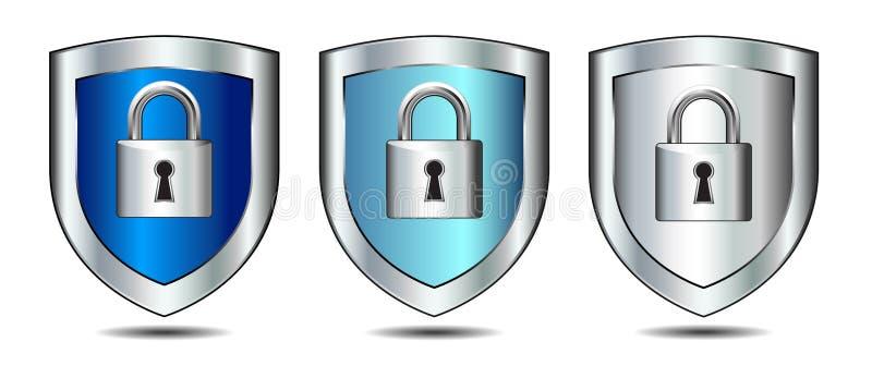 Osłona kędziorka nazwy użytkownika Internetowa ochrona ilustracja wektor