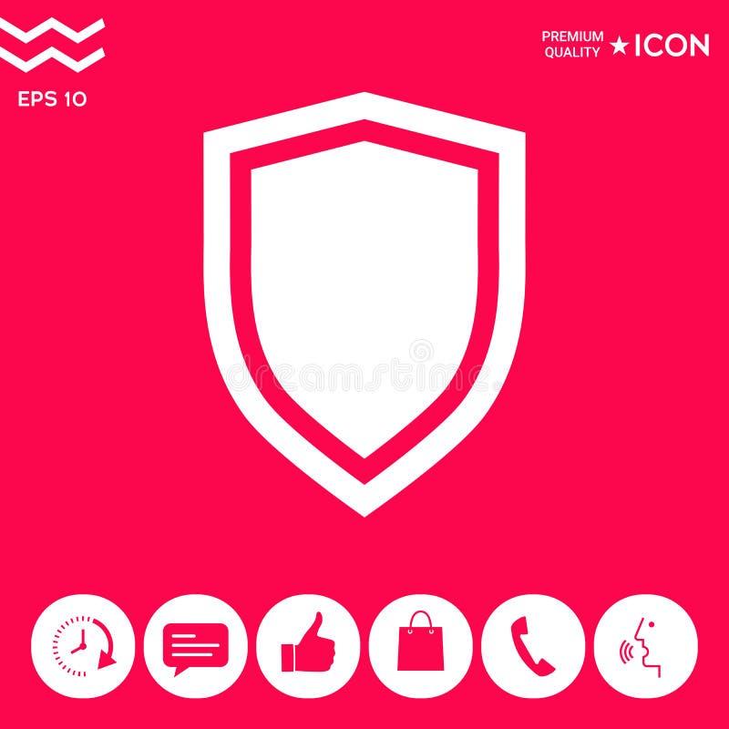Osłona, ochrony ikona ilustracji