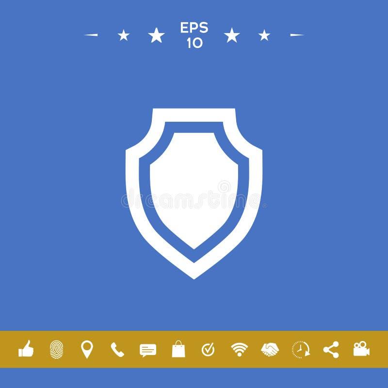 Osłona - ochrony ikona royalty ilustracja