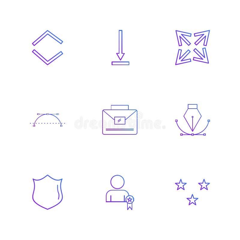 osłona, stalówka, breifcase, strzała, kierunki, avatar, downlo royalty ilustracja
