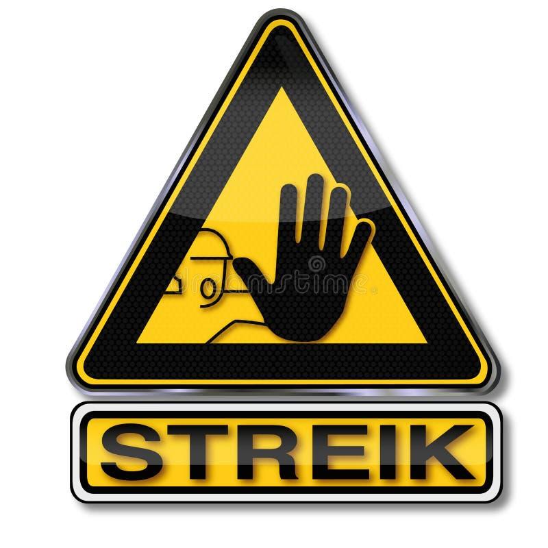 Osłona strajk i ręka ilustracja wektor