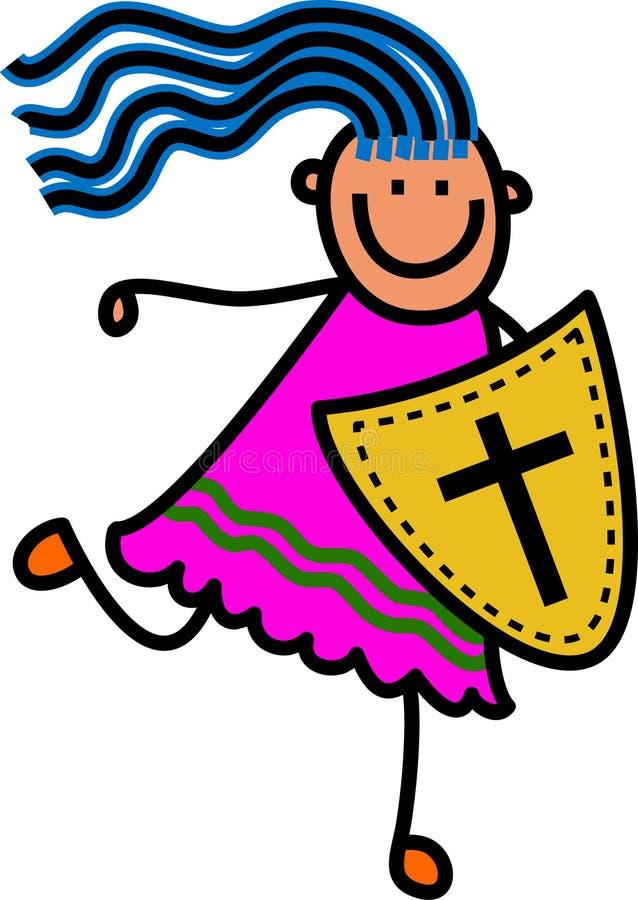 Osłona wiary dziewczyna ilustracja wektor