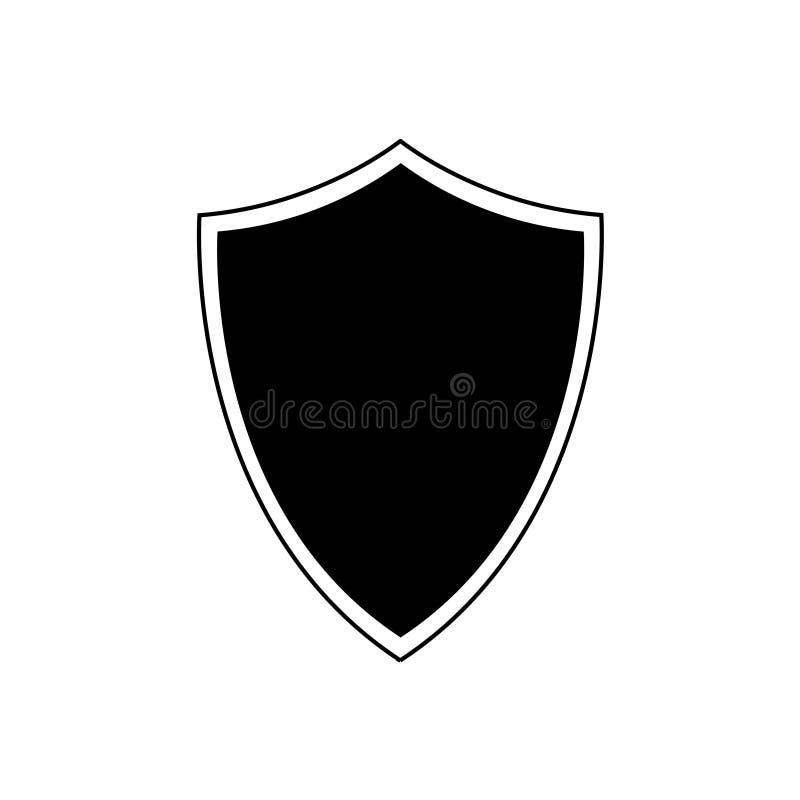 Osłony ikona na białym tle fotografia stock