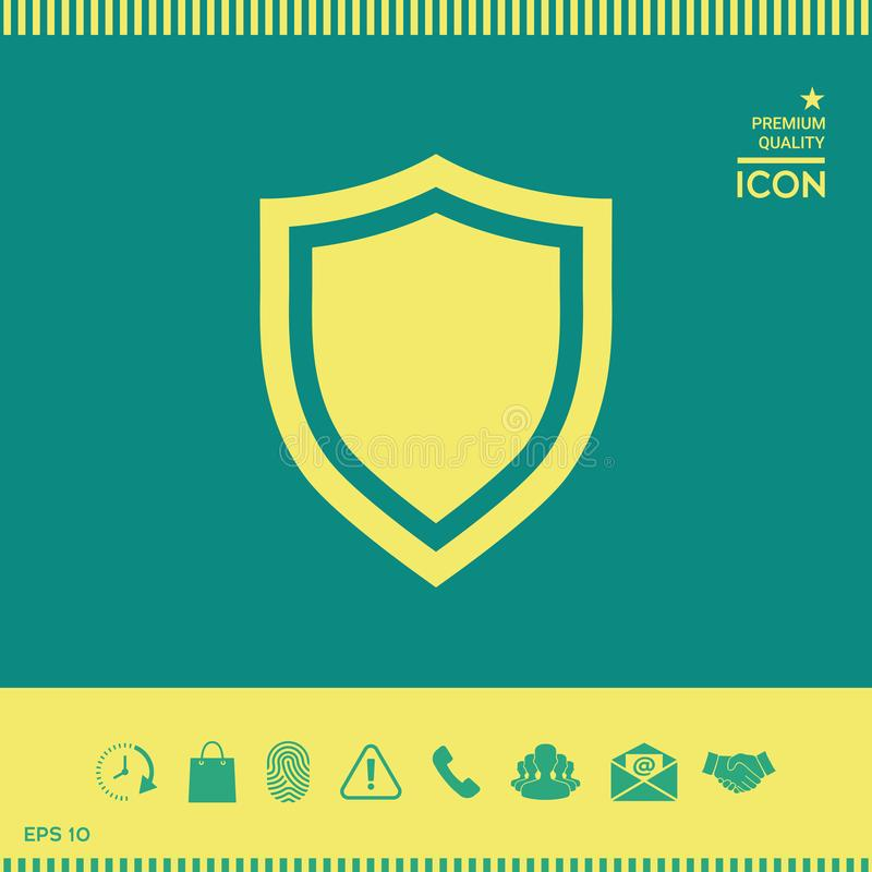 osłony Ochrony ikona ilustracja wektor