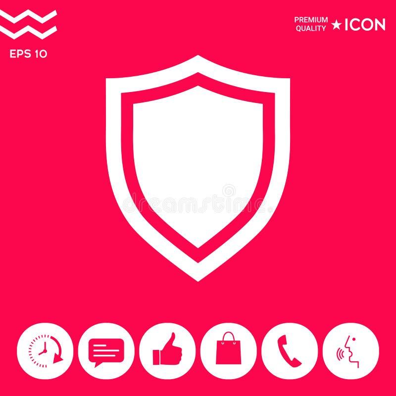 osłony Ochrony ikona ilustracji