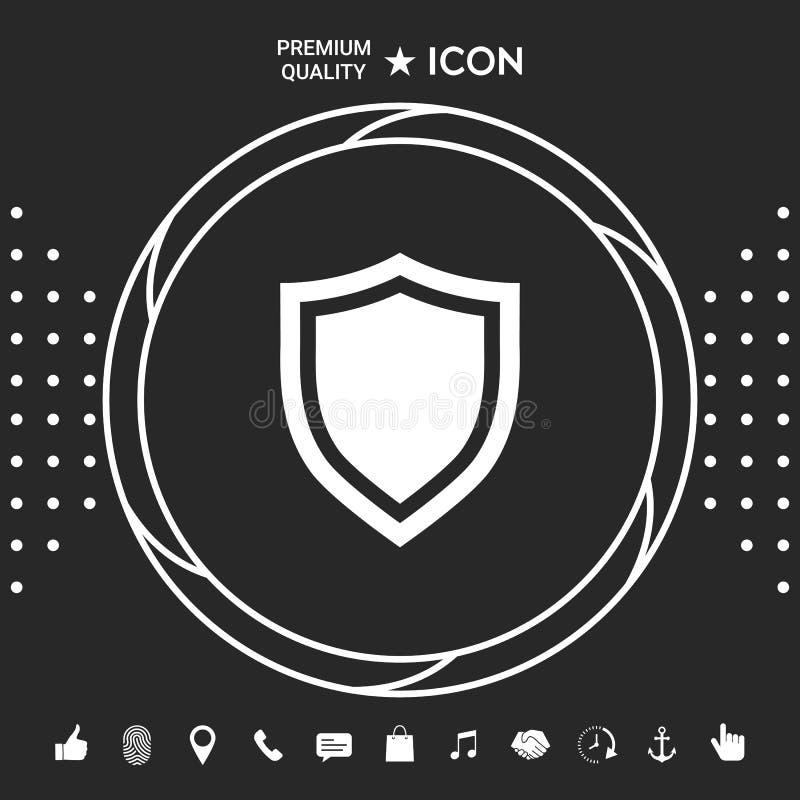 osłony Ochrony ikona Graficzni elementy dla twój designt ilustracja wektor