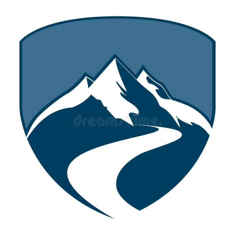 Osłony odznaki pojęcia halny projekt Symbolu szablonu elementu graficzny wektor ilustracji