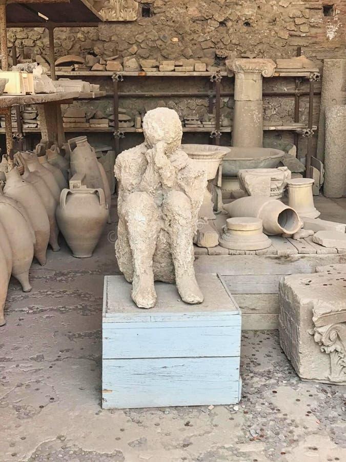 osłupiali ludzie w Pompei fotografia royalty free