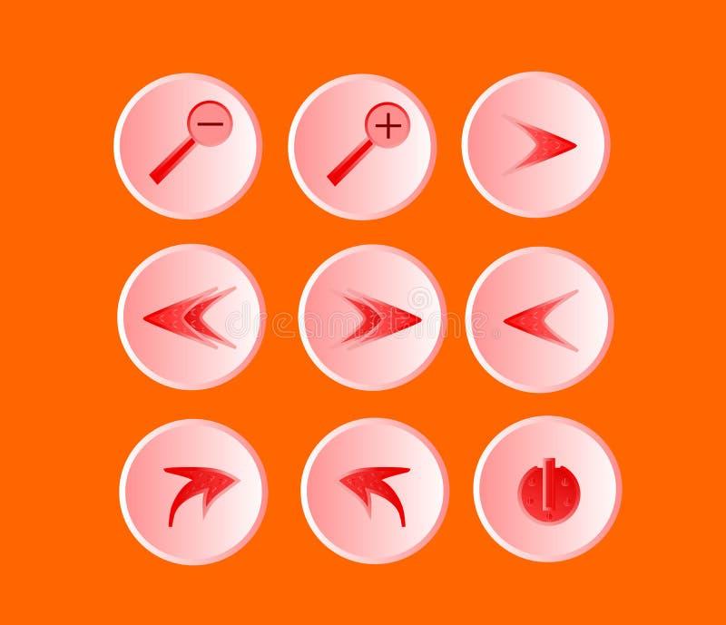 Os ícones ilustração do vetor